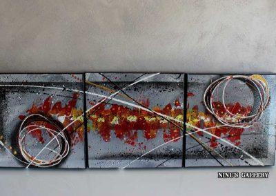 Tableau Holea – 30 x 90, réalisé par l'artiste Ninu's Gallery, art contemporain