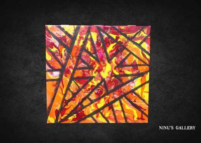 Tableau Pullya - 50 x 50, réalisé par l'artiste Ninu's Gallery, art contemporain