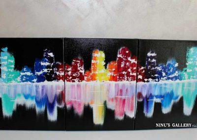 Tableau Nueva – 40 x 90, réalisé par l'artiste Ninu's Gallery, art contemporain