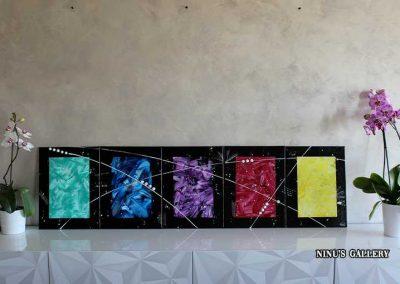 Tableau Seasons - 40 x 150, réalisé par l'artiste Ninu's Gallery, art contemporain