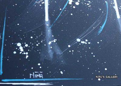 Tableau Black hole – 90 x 70, réalisé par l'artiste Ninu's Gallery, art contemporain