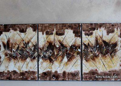 Tableau Sahara, réalisé par l'artiste Ninu's Gallery, art contemporain