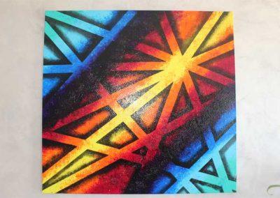 Tableau Vicky – 80 x 80, réalisé par l'artiste Ninu's Gallery, art contemporain