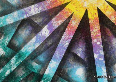Tableau Alphya – 80 x 80, réalisé par l'artiste Ninu's Gallery, art contemporain