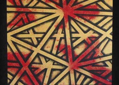 Tableau Primera – 100 x 100, réalisé par l'artiste Ninu's Gallery, art contemporain