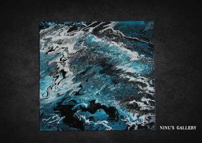 Tableau Wavy – 50 x 50, réalisé par l'artiste Ninu's Gallery, art contemporain