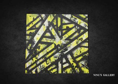 Tableau Yulla – 60 x 60, réalisé par l'artiste Ninu's Gallery, art contemporain