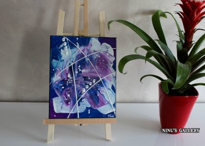Tableau Purpini – 22 x 27, réalisé par l'artiste Ninu's Gallery, art contemporain