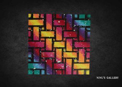 Tableau Lya – 40 x 40, réalisé par l'artiste Ninu's Gallery, art contemporain