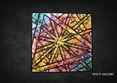 Tableau Athys – 80 x 80, réalisé par l'artiste Ninu's Gallery, art contemporain