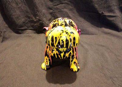 Sculture NINU's BULLDOG, réalisé par l'artiste Ninu's Gallery, art contemporain
