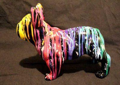 Sculture MINI NINU's DOG TWO, réalisé par l'artiste Ninu's Gallery, art contemporain