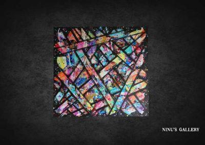 Tableau Wave – 80 x 80, réalisé par l'artiste Ninu's Gallery, art contemporain