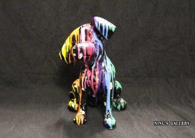 Sculture NINU's DALMAT SIT, réalisé par l'artiste Ninu's Gallery, art contemporain