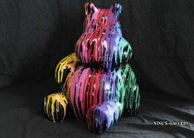 Sculture NINU's HIPPO, réalisé par l'artiste Ninu's Gallery, art contemporain