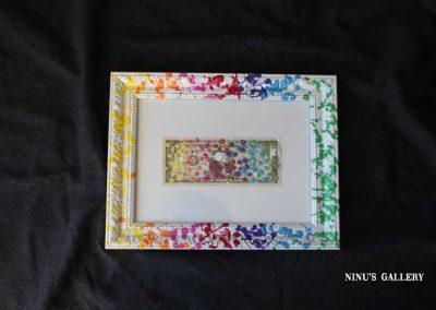 Billet encadré NINU'S DOLLAR N°1- 18 x 23, réalisé par l'artiste Ninu's Gallery, art contemporain