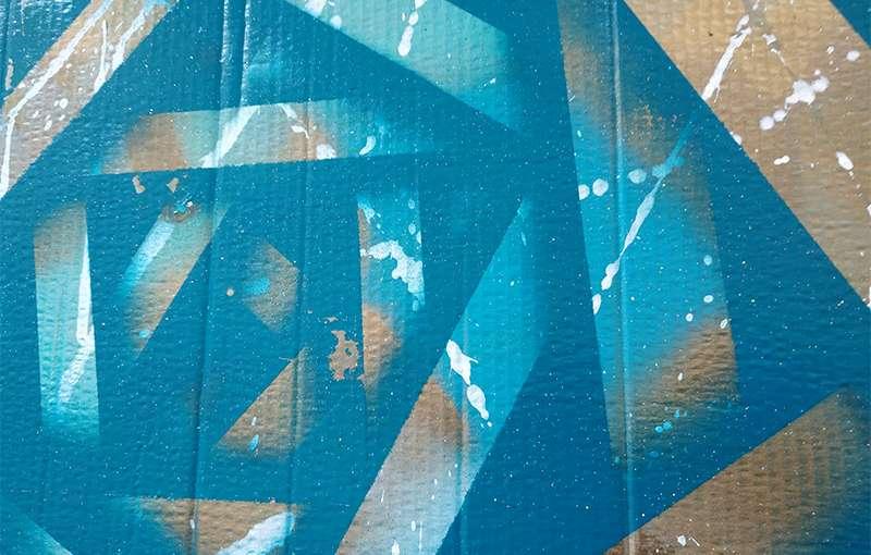 Cardboard Blue